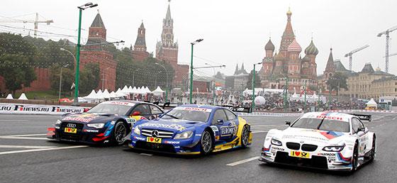 DTM-Stars begeistern russische Fans beim Moscow City Racing