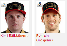 Lotus F1 Team fahrer